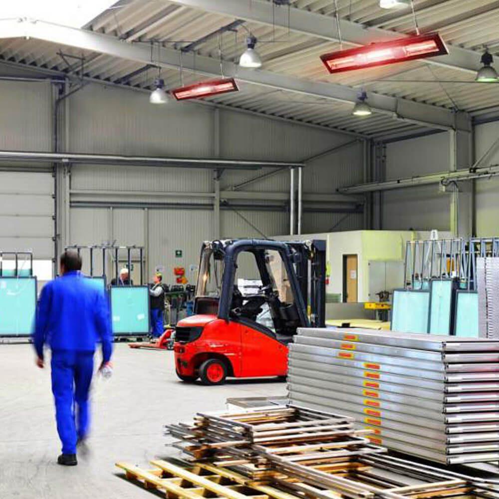 Calefacción por lámpara de cuarzo APOLLO ejemplo de instalación 2