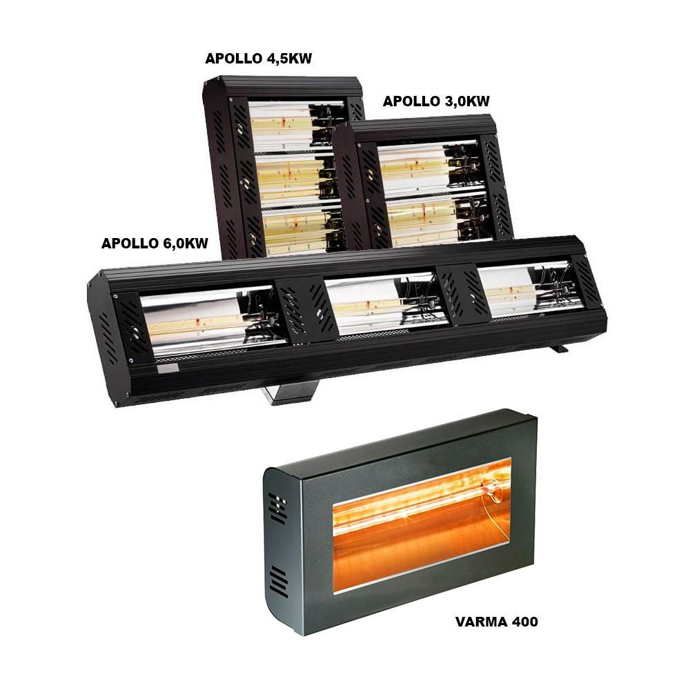 Calefacción eléctrica por rayos infrarrojos de 3Kw a 6Kw instalación fija