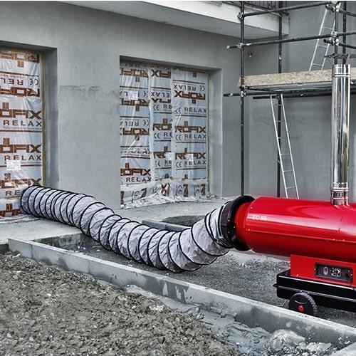 aerogenerador conducto obra