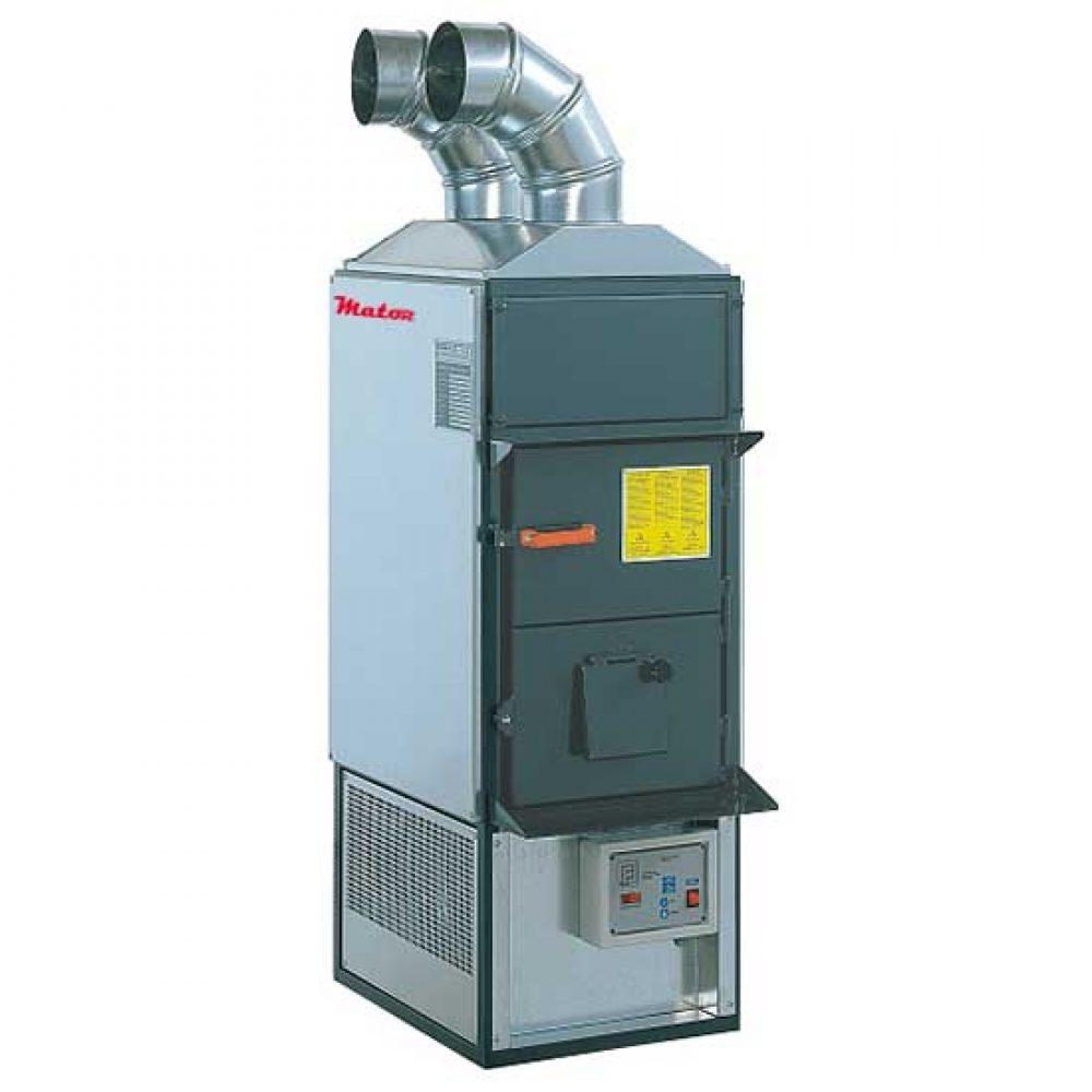 Generador de air caliente leña dragoon principal
