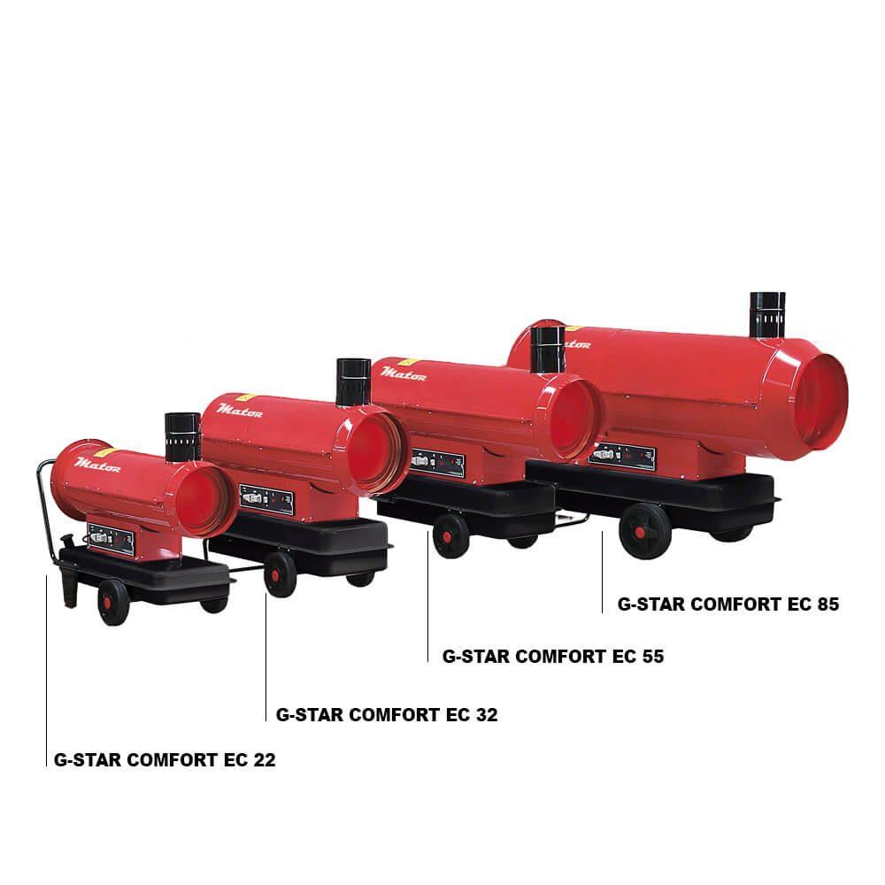 Generadores de aire caliente G-STAR COMFORT EC 22, 32, 55, 85