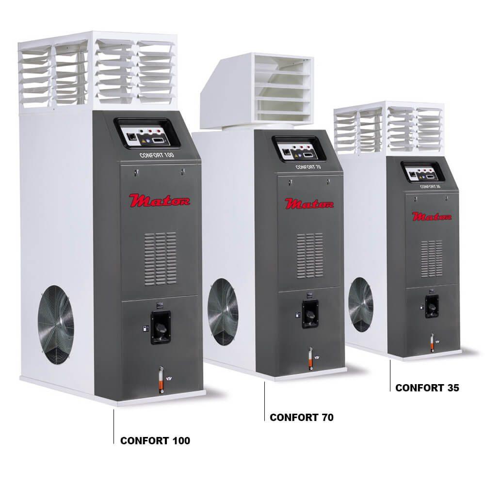 Generadores de aire caliente CONFORT