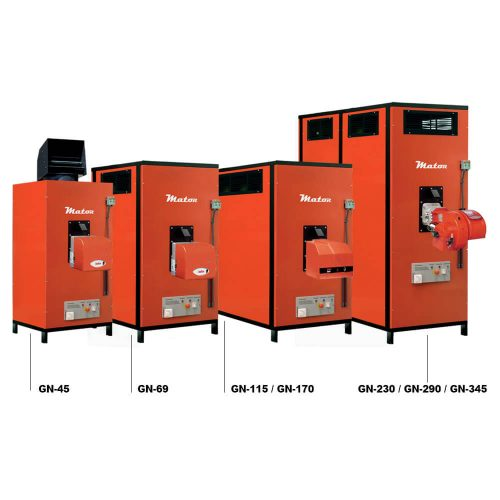 Generadores de aire caliente PARA Grandes volúmenes SERIE GN
