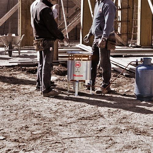 Calefactor a gas GW obra