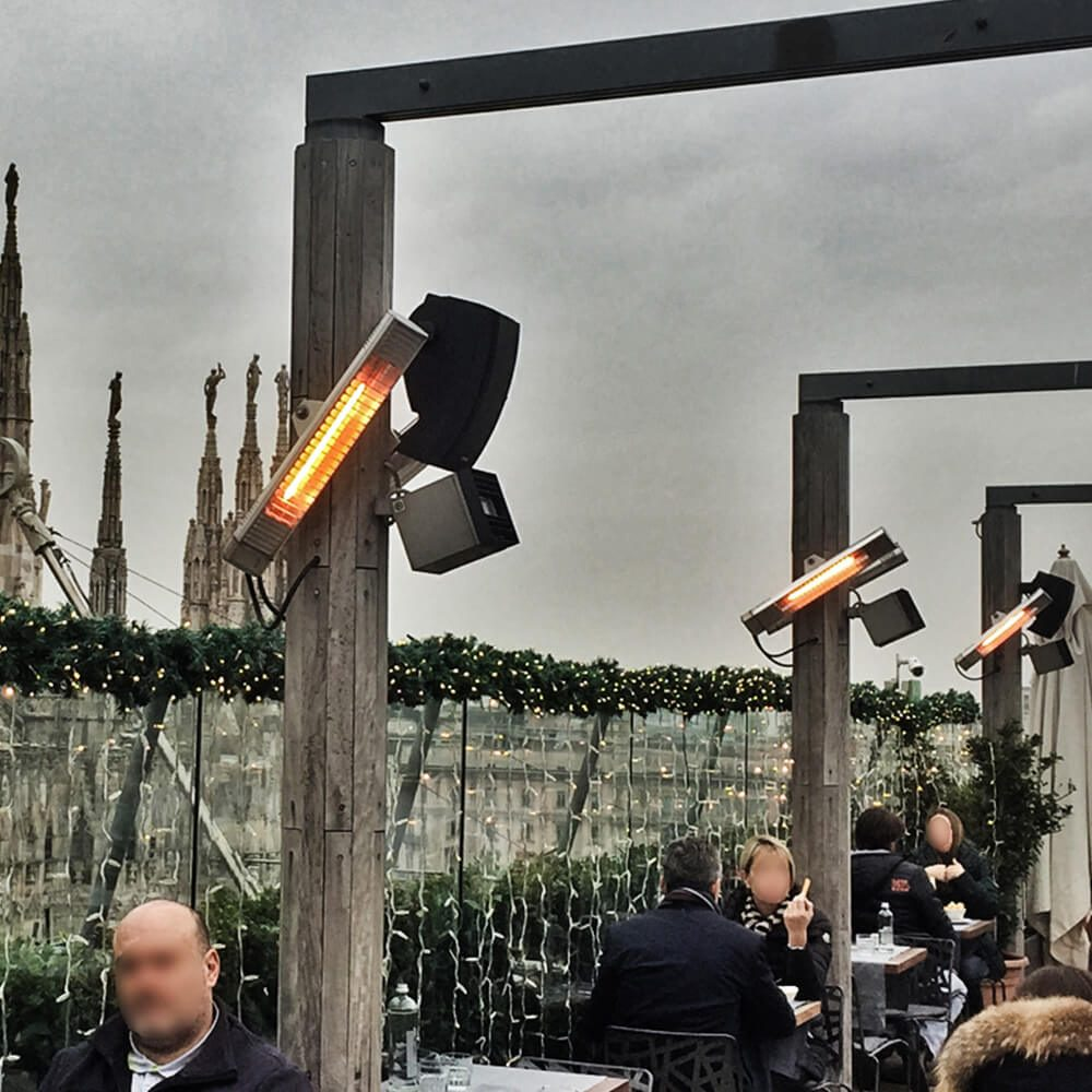 Calefacción por lámpara de cuarzo IK ejemplo de instalación