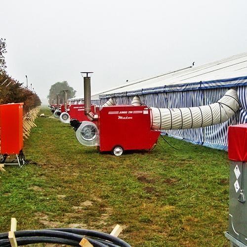 generador de calor carpa