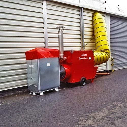 generador calefacción instalación