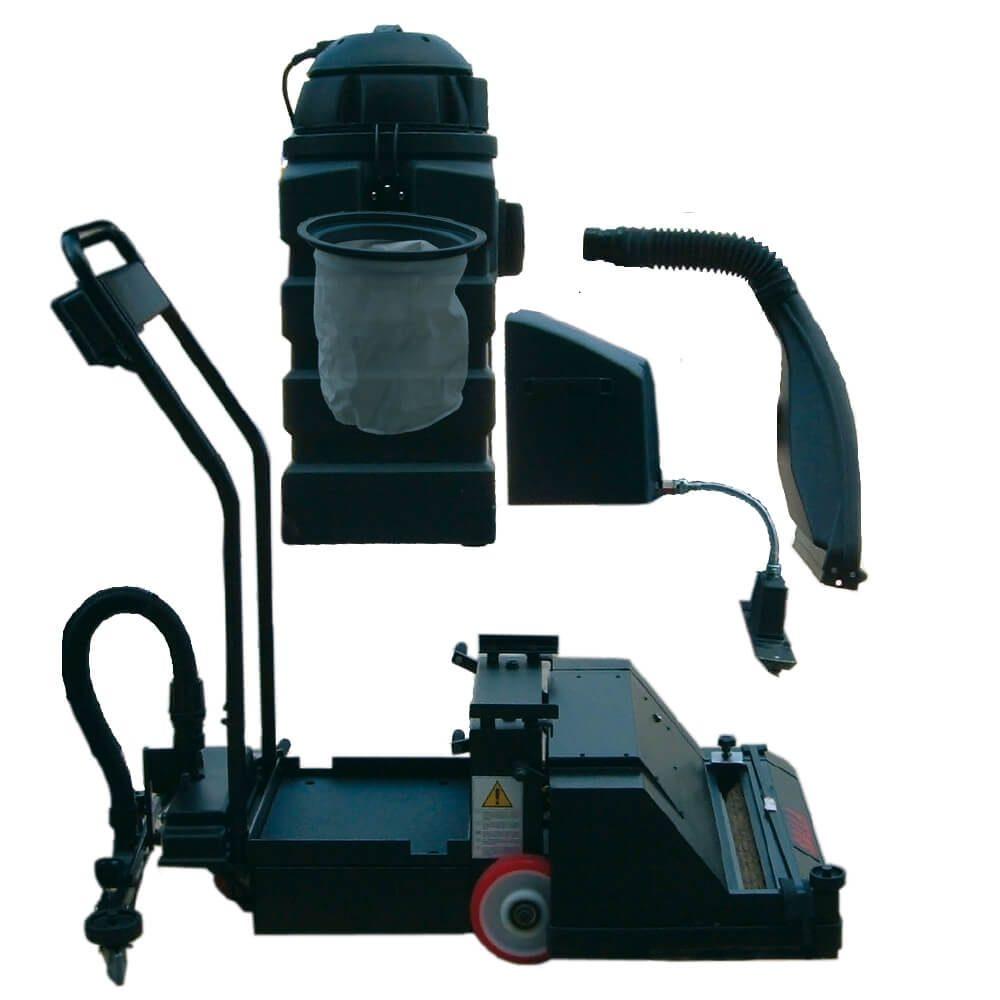 Fregadora barredora de suelos combinada roller-2x500e-bc-m-aspirador-independiente