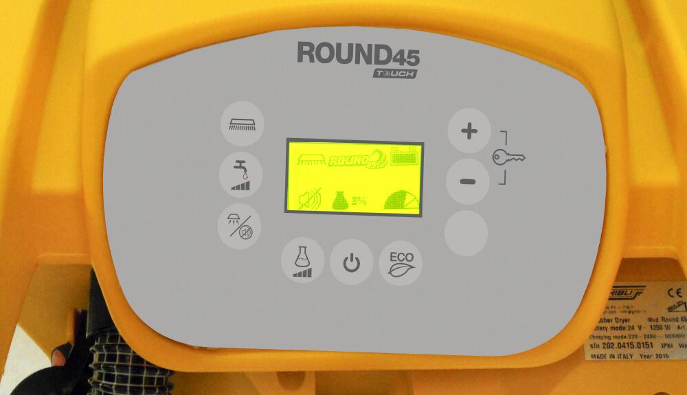 FREGADORA tracción manual, round-45-panel-control
