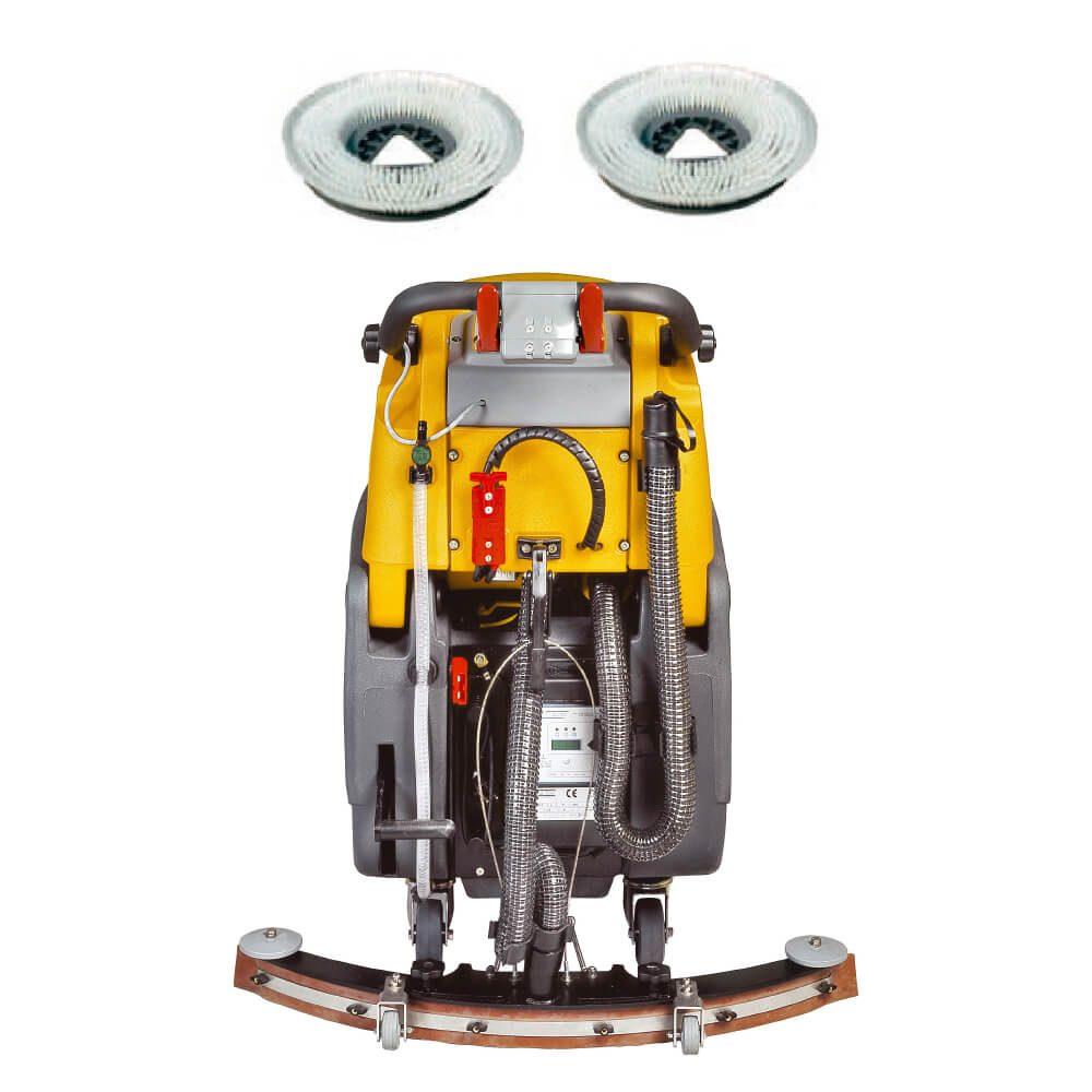 Fregadora de suelos automática tracción batería s2-80-d-70-bc-patin-secado