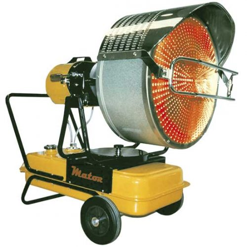 Calefacción rayos infrarrojos móviles