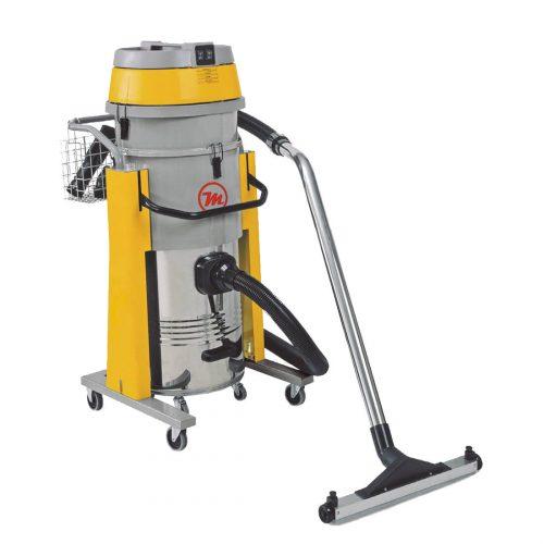 Aspirador industrial de polvo y líquidos 3.450W, 60 L, 3 motores