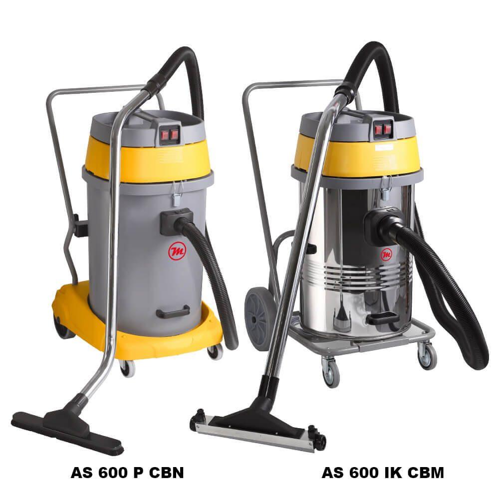 Asp. industriales polvo y líquidos, 3.450W, 80L, 3 motores