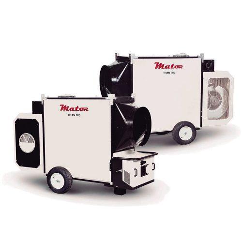 TITAN Generadores de aire caliente para Grandes volúmenes