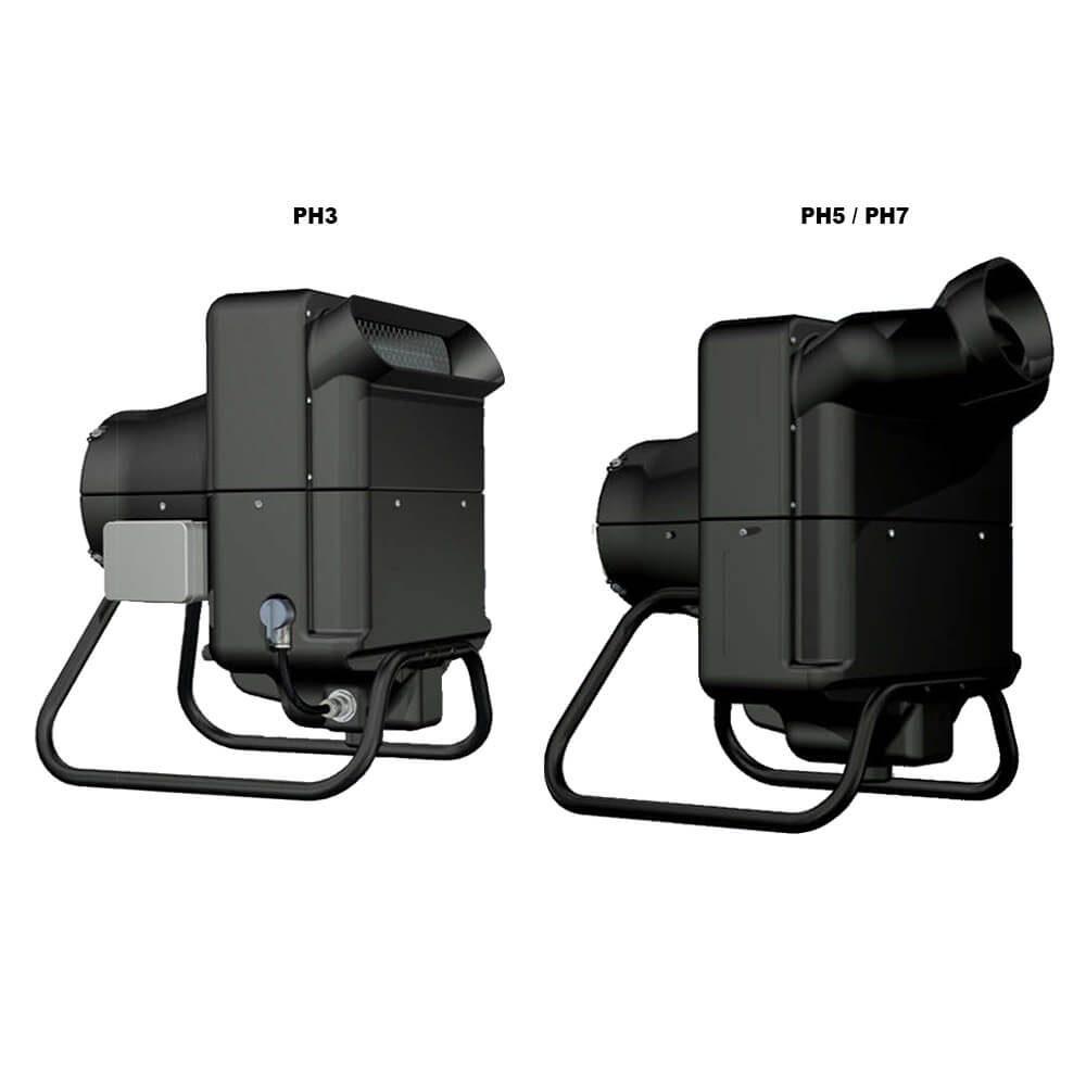 Humidificadores de aire / atomizadores PH3, PH5, PH7