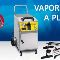 Limpiadora de vapor profesional, ideal para la higiene, limpieza y eliminación de virus, bacterias y ácaros.