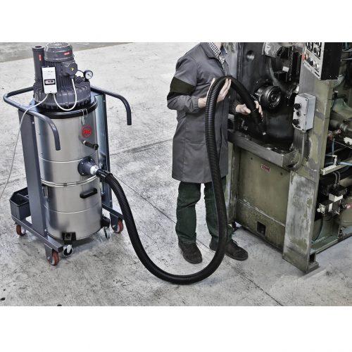 Aspiradores industriales móviles para sólidos, líquidos y virutas