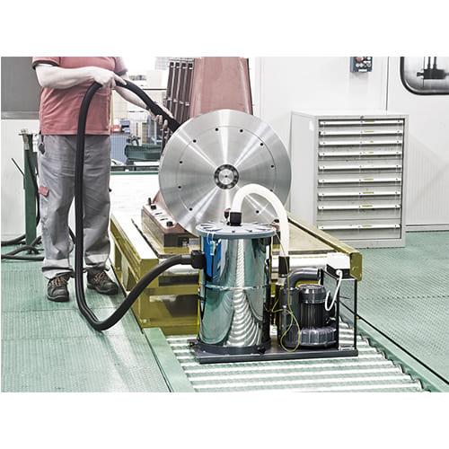 Aspiradores industriales fijos para líneas de producción