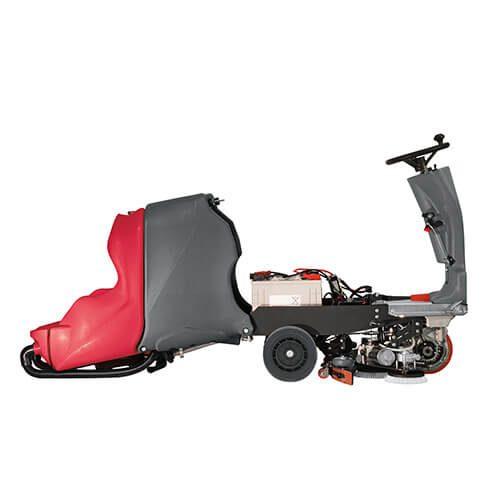 Fregadora de suelos automática con conductor